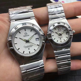 Wholesale Couple Watches Automatic - Couple Automatic Watch 35mm Top Brand Luxury Men watches 26mm Women dress watch Stainless Steel Waterproof Sports mechanical Wristwatches