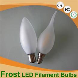 Wholesale Led Candelabra Dimmable - C35 Frost Led Candle Bulbs 2W 4W Dimmable Candelabra Bulb E27 B22 E14 110V 220V decorative Led Bulb Filament Lamp