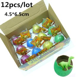 Wholesale Eggs For Hatching - 12pcs lot Novel Water Hatching Inflation Colorful Dinosaur Eggs Watercolor Grow Egg Educational Toys Classic toys for Unisex Kid