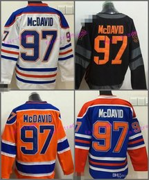 Wholesale Fashion World Men - 2017 World Cup North America Ice Hockey Jerseys Black Edmonton Oiler 97 Connor McDavid Jersey Men Fashion Best All Stitched Quality