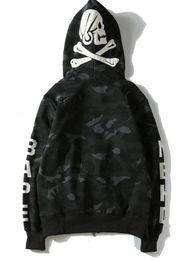 Wholesale Men S Sweaters Skull - Popular Brand Shark Head Skull Head Dark Black Hedge Sweater Hoodies Jackets Loves Skateboard Hip Hop Hoodies