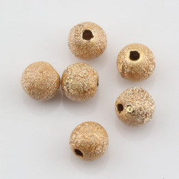 "Wholesale Stardust Gold Bead - Hot ! 500 Pcs Plated Gold Stardust Acrylic Round Spacer Beads 6mm(1 4"") DIY Jewelry"
