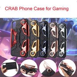 iphone capas Desconto EClouds phone case para iphone x 8 8 plus 7 7 além de caranguejos tampa traseira jogo suporte da alça do telefone móvel case