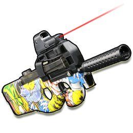 Wholesale Pistol Gun Games - Live CS Game Toy Gun airsoft air guns P90 Submachine Gun Christmas Gift Kid Toy Guns airsoft pistol Outdoor Fun Sports Graffiti