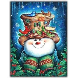 Wholesale Paint Hat - MOONCRESIN Diy Diamond Embroidery Brids With Snowman Hat Diamond Mosaic Christmas Gifts Diamond Painting Cross Stitch Decoration