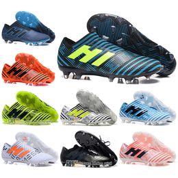 Wholesale Messi Football Boots - Mens Classic Football Boots NEMEZIZ 17 FG AG Soccer Shoes Tango 17.3 IC TF Messi NEMEZIZ 17.1 Agility Superfly Soccer Cleats