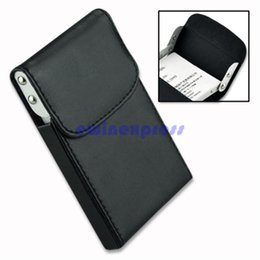 Wholesale Name Card Wallet - Embossed Leather Business Name Card Holder PU Leather & Stainless Steel Multi Card Case Cards