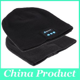Wholesale Nice Black Cap - Nice winter knitting Bluetooth Music Hats for women men with Wireless Stereo Microphone Headphone Hands-free Mic Headset Speaker