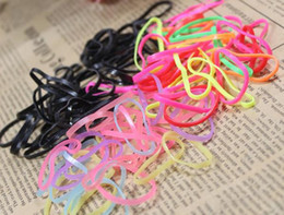 Wholesale Disposable Hair Bands - Disposable rubber band women and children hair assessories +FREE SHIPPING TY945