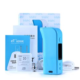 Wholesale Electronic Cigarette Real - ECT et 60wk box mod electronic cigarettes 2600mah 50W 1W-60W no empty or dry burning Real Control of temperature avoid dry ashingDHL free