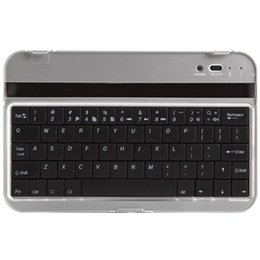 Wholesale Tab Keyboard Aluminum Cases - Wholesale-Wireless Bluetooth Keyboard Aluminum Stand Case for Samsung Galaxy Tab 2 7.0 P3100 P3110 P3113