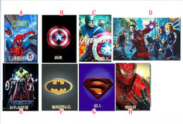 Wholesale Ipad Batman - For Ipad 2 3 4 5 6 Ipad5 Air 2 Mini4 IPad6 tablet Cartoon Superman Spiderman Leather Wallet Cases Pouch Bag Avengers Batman Stand Cover