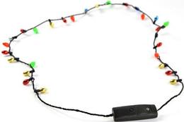 Wholesale Fedex Toys - Wholesale 100PCS 8 lights lighting Led Necklace Necklaces Flashing Beaded Light Toys Christmas gift DHL Fedex Free shipping
