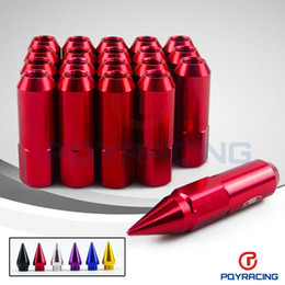 Wholesale Wheel Lugs - PQY Store-20PCS BX STYLE ALUMINUM EXTENDED TUNER wheel LUG NUTS WITH SPIKE FOR WHEELS RIMS M12X1.5 PQY-ELB1215