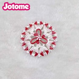 Wholesale First Engagement - Choose Color First, Pretty Jewelry Falt Back Flower Brooches For Women Red Green Enamel Pin Brooch