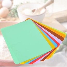 Wholesale Table Bar Mats - 30*40cm Food Grade Waterproof Silicone Placemat Bar Mat Baby Kids Colorful Plate Mat Table Mat Home Kitchen Tableware Pads CCA8026 50pcs