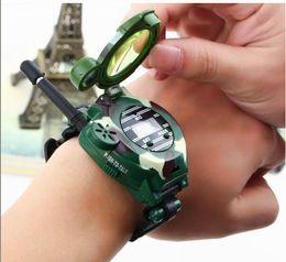 Wholesale Digital Toy Watches - 18%OFF DROP SHIPPING New TWO WAY RADIO WALKIE TALKIE KIDS CHILD SPY WRIST WATCH WRISTLINX GADGET TOY WALKY TALKY4PCS
