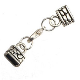 Wholesale Wholesale Metal Clasps For Leather - 100pcs new diy fashion jewelry findings and accessories square hole metal small vintage silver toggles clasps hooks for leather bracelets