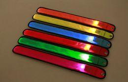 Wholesale Wrist Ankle Bands - Flashing LED Reflective Glow Armband Wrist Ankle Visible Belt Strap Sports Jogging Cycling Biking High Quality Led arm band Safety Useful