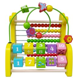 Wholesale Large Toy Giraffe - Wholesale-Multifunctional cognitive children's educational toys  wooden giraffe bead abacus  large arithmetic beads frame