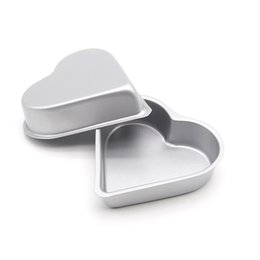 Wholesale Pudding Set - Wholesale- 2016 New Small Size Heart-Shaped Cake Pan Cookie Pudding Muffin Cake Mold With High Carbon Steel Export