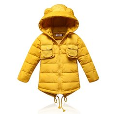 Wholesale Wholesale Duck Down Jacket Coat - Male and female children down jacket in the new coat winter coats male ZhongTong children long down jacket pure color BH1325