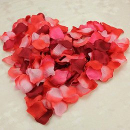 Wholesale Purple Gold Party Supplies - 50 Bags 5000Pcs Flower Petals Gold  Red Purple Many Colors To Chose Decorative Flower Top Quality Whosale Petals Party wedding Supplies WWL