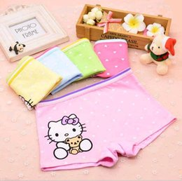 Wholesale girl boxers - Cute Cartoon Kids Underwear Boxers Pure Cotton Comfortable Baby Panties Breathable Short Pants for Girls Wholesale
