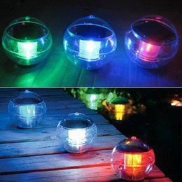 Wholesale Solar Floating Balls - Solar Power Light Waterproof Floating Pool Pond Rotate 7 Color Changing Solar Lamp Ball Pond Fountain Floating Rainbow Light Float Lamp