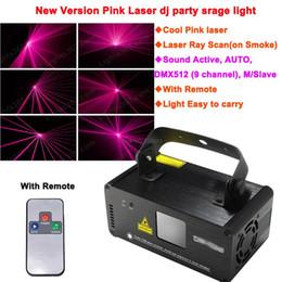 Wholesale Pink Disco Lights - new Remote sound pink 450mW Laser Stage Lighting DMX Scanner effect light Smoke DJ Disco Party Lights system Show D72 free ship
