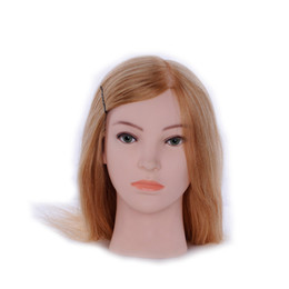 "Wholesale Hair Salon Mannequin Heads - 27# 24"" High Temperature Fiber Hair Hairdressing Training Head Mannequin Head Hair Cut Salon Practice Model"