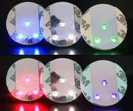 Wholesale Light Up Cups Wholesale - 45x3mm Bar Cup LED Flashing Lights Bottle Sticker Party Light Up Wine Mat For Wedding Party Beauty