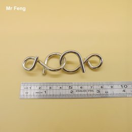 Wholesale Numbers Test - Number 8 Metal Ring Puzzle Toy IQ Brain Teaser Test Trick Gift Newly