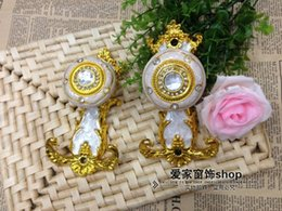 Wholesale Gold Wall Hooks - Wholesale-[Love] family Stocks curtain hooks   curtain accessories   curtain hanging ball strap hook   wall hook   24 yuan one pair