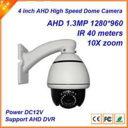 Wholesale Dome Ptz - 4 inch AHD 1.3MP Mini high Speed Dome Pan Title zoom Camera PTZ camera with 40m IR Distance 10X optical Zoom CP-5107R