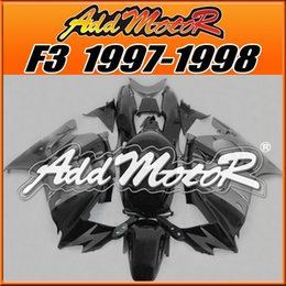 Wholesale 1998 F3 - In Stock Addmotor Best Selling Injection Fairing For Honda CBR600F3 CBR 600 F3 1997 1998 97 98 Black Dark Gray H3740+5 Free Gifts