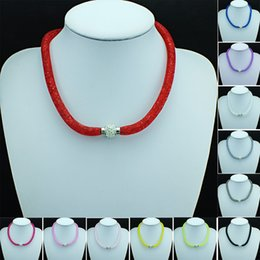 Wholesale Infinity Necklaces For Women - Brand New Statement Necklace Filled Crystal Infinity Magnetic Clasp 12 Color Choker Necklace For Women Jewelry