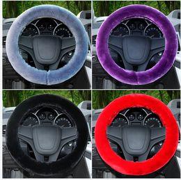 Wholesale Cheap Spokes - New Arrival Pink long Wool Plush Steering Wheel Cover Woolen Car Accessory Cheap car steering accessories
