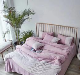 Tecido de linho com estampado floral on-line-cama lençóis de algodão estabeleceu 20% de linho com tecido de algodão de 80% com painel impressão reativa projeta folha de cama quatro peças têxteis lar mingyang