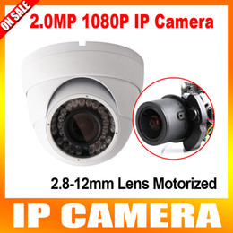Wholesale Dome Security Camera Zoom - 4x Zoom Auto iris Varifocal Motorized Lens IR 40m 2MP Dome Security Network IP Camera With POE 1080P Outdoor Support IOS Android P2P View