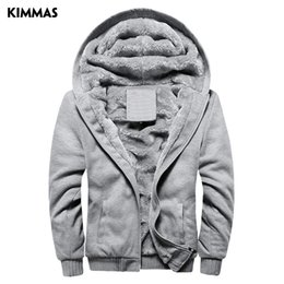 Wholesale Discount Hoodies Sport - Wholesale-Free Shipping Big Discount New style KIMMAS Winter Thick Men Fashion Brand Hoodies Sweatshirts Casual Sports Male Hooded Jackets