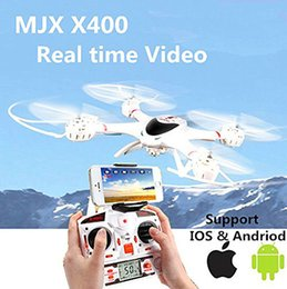 Rc helicóptero rotor cámara online-MJX X400 2.4G RC quadcopter drone rc helicóptero de 6 ejes puede agregar cámara C4002C4005 (FPV) quadcoptepr