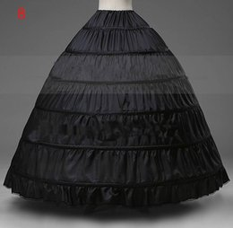 Wholesale Cheap Quinceanera Wedding Dresses - Black Ball Gown Dress Bridal Petticoats 6-Hoop Beautiful wedding bridal accessories Quinceanera dress petticoats cheap price HY