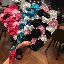 Wholesale Mobile Phone Housing Accessories - Lovely 3D Rose Flower Back Covers For Apple iPhone 7 6 6s Plus Shell Case Mobile phone accessories protect Caque housing For 7
