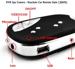 Wholesale Dv Car Keychain Video Camera - Mini DV Camera 909 Car Key Chain Spy Camera Hidden Video Recorder Keychain Camera DVR 720*480 PC Cam Security Camcorder in No Retail Box