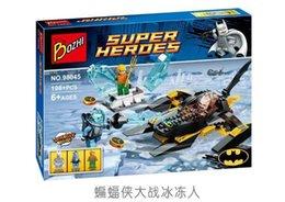 Wholesale Batman Minifigure Toys - Super Hero Arctic Batman vs Mr Freeze Building Blocks Avengers Minifigure Kids Educational Toys Compatible