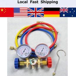 Wholesale Ac Manifold - Wholesale-Refrigeration Air Conditioning R22 R12 R502 A C AC Diagnostic Manifold Gauge Set