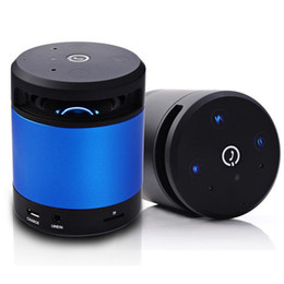 mp3 player blue bluetooth mini Promo Codes - N10 Speakers Built-in MIC Bluetooth Wireless Mini HiFi Stereo Music Players Black White Blue Red DHL Free MIS103