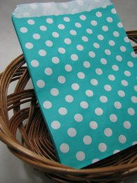 Wholesale Dots Paper - wedding decorations Chevron bags Polka Dot Stripe Printed Paper Gift or Favor Bags Party Food Paper Bag 13x18cm 200pcs paper bags for candy
