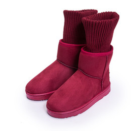 Wholesale Female Cloths - Women's Snow Boots Winter Short Boots Thickened Boots Winter Warm Snow Boots Female Boots Students Non-slip Cotton Shoes Size4.5-8.5